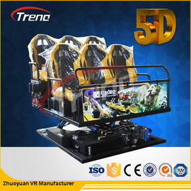 70 PCS 5D Movies + 7 PCS 7D Shooting Games Safety Theme Park Roller Coasters 5D Cinema Simulator With Hydraulic System