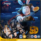 ประเทศจีน Safety Theme Park Roller Coasters 5D Movie Theater With Hydraulic System For film บริษัท