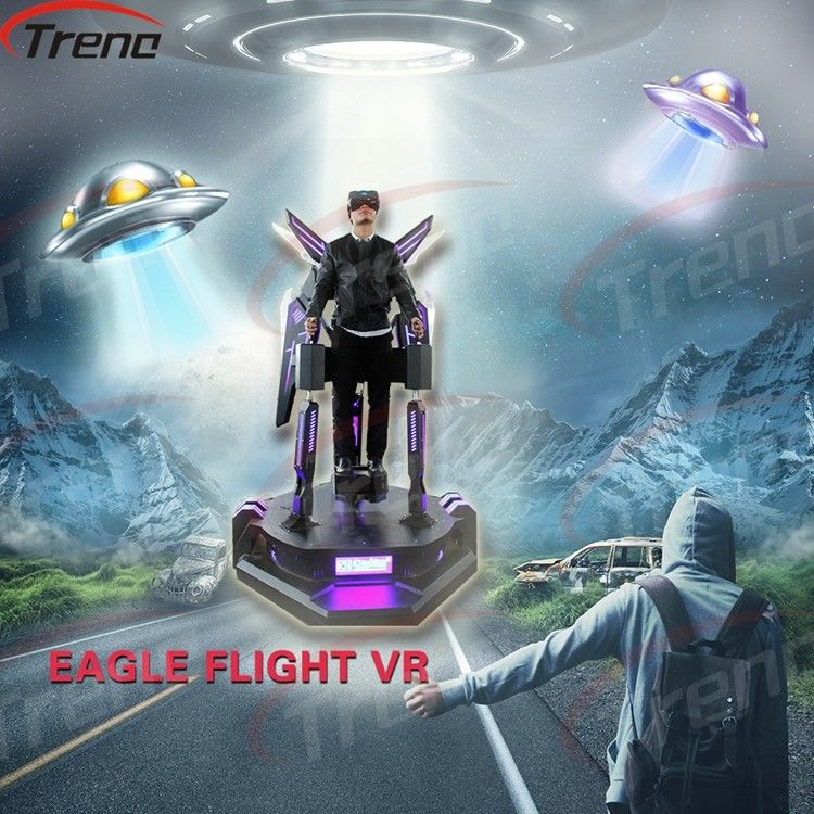 360 Degree Viewing Stand Up Flight VR Simulator In Amusement Park