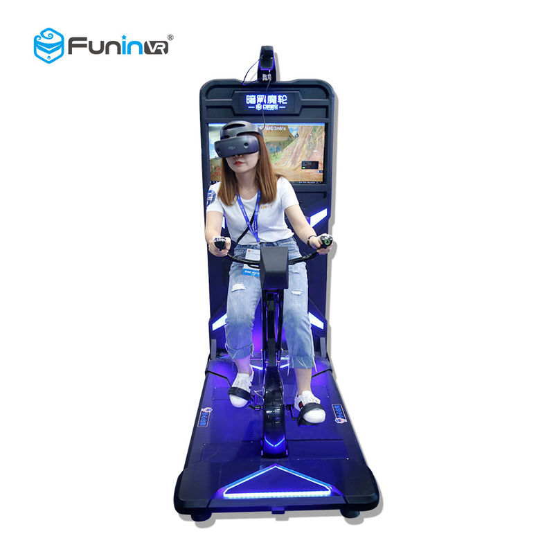 Indoor 9D Virtual Reality Stationary Bike / Exercise Bike Virtual Ride